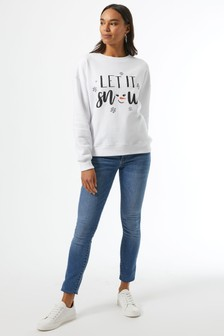 Dorothy Perkins Let It Snow Sweatshirt