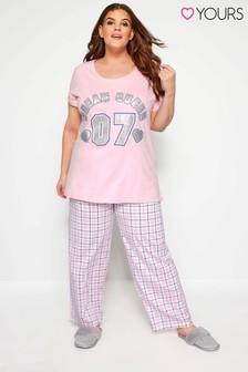 Yours Curve Dream Queen Pyjama-Set