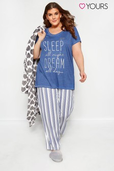 Yours Curve Dream Queen PJ Set