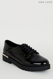 New Look Patent Chunky Lace Up Shoes