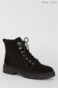 New Look Suedette Chunky Hiker Boots
