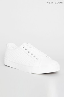New Look Quilted Lace Up Trainers