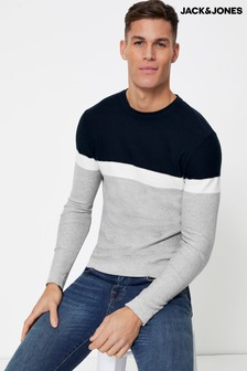 Jack & Jones Colourblock Crew Neck Jumper