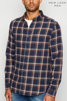 New Look Check Long Sleeves Cotton Shirt