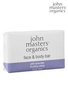 John Masters Organics Face & Body Bar with Lavender & Ylang Ylang 128g