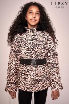 Lipsy Girl Leopard Belted Coat