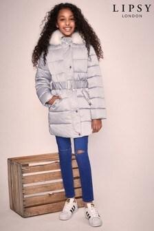 Lipsy Girl Long Line Padded Coat