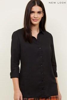 New Look Crepe Long Sleeve Shirt
