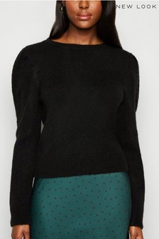 New Look Brushed Puff Sleeve Jumper