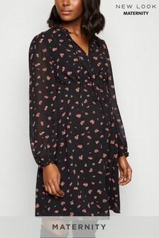 New Look Maternity Rose Drawstring Waist Dress