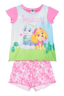 Kids Genius Girls Paw Patrol Pyjama Shorts Set