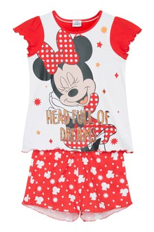Kids Genius Girls Minnie Mouse Pyjama Shorts Set