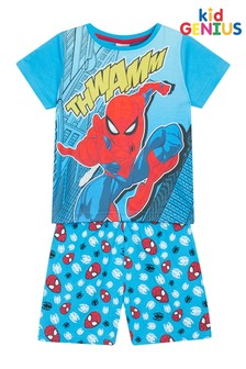 Kids Genius Boys Spiderman Pyjama Shorts Set