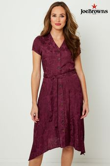 Joe Browns Button Through Jacquard Dress