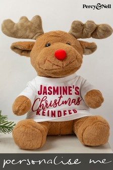Personalised Soft My First Christmas Reindeer by Percy & Nell