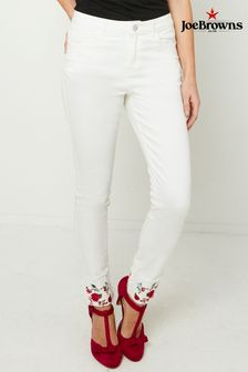 Joe Browns Embroidered Turn Up Jeans