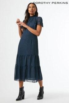 Dorothy Perkins Spot Chiffon Midaxi Dress