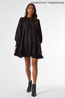 Dorothy Perkins Heart Print Smock Mini Dress