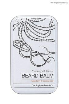 The Brighton Beard Co. Creampot Toms Mandarin and Cedarwood Beard Balm, Handmade, Softening and Nourishing 80ml
