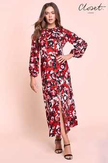 Closet Printed Midi Dress