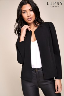 Lipsy Puff Sleeve Jersey Jacket