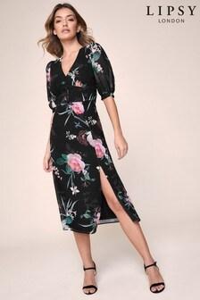 Lipsy Printed Midi Tea Dress