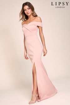 Lipsy Scuba Bardot Maxi Dress