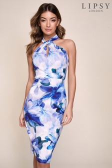 Lipsy Twist Halterneck Scuba Dress