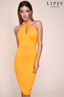 Lipsy Twist Halterneck Scuba Dress