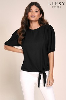 Lipsy Puff Sleeve Tie Top