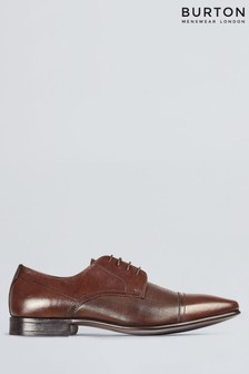 Burton Leather Brogue Detail Banks Shoes