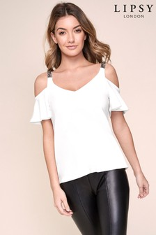 Lipsy Embellished Strap Top