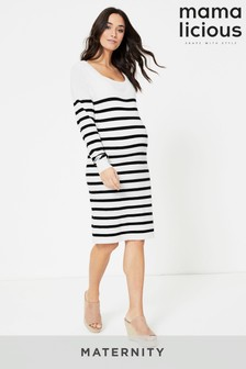 Mamalicious Knitted Nursing Maternity Dress