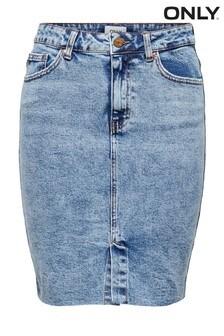 Only Light Wash Denim Skirt