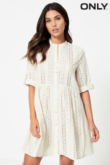 Only Broderie Smock Dress