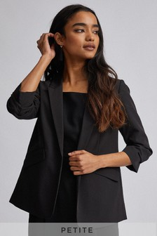 Dorothy Perkins Petite Ruched Sleeve Jacket