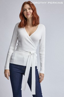 Dorothy Perkins Textured Belted Wrap Jumper