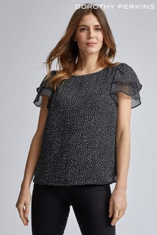 Dorothy Perkins Double Ruffle Sleeve Top
