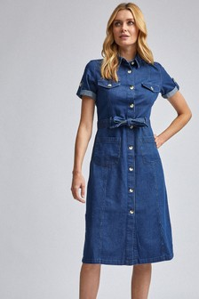 Dorothy Perkins Short Sleeve Shirt Dress