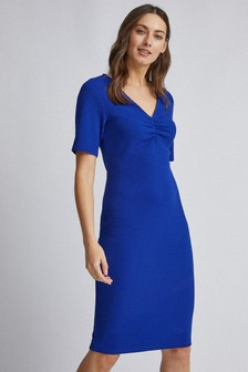 Dorothy Perkins Ruched V neck Bodycon Dress