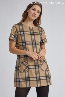 Dorothy Perkins Check Patch Pocket Tunic