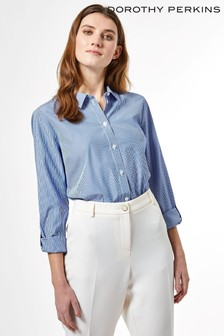 Dorothy Perkins Pin Stripe Cotton Shirt