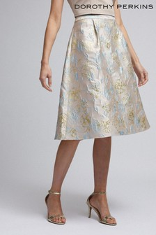 Dorothy Perkins Luxe Metallic Jacquard Midi Skirt