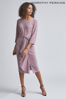 Dorothy Perkins Luxe Crepe Manipulated Sleeve Dress
