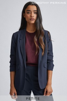 Dorothy Perkins Petite Edge To Edge Rouched Sleeve Jacket