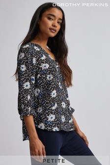 Dorothy Perkins Petite Print Roll Sleeves Shirt