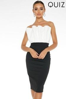 Quiz Strapless Midi Dress