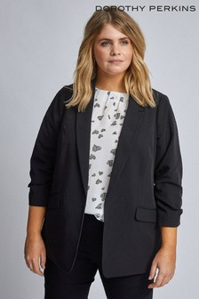 Dorothy Perkins Curve Ruched Sleeve Jacket