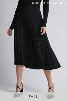 Dorothy Perkins Tall Plain Pleat Midi Skirt