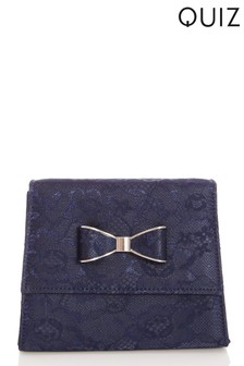 Quiz Lace Bow Bag With Silver Metals
